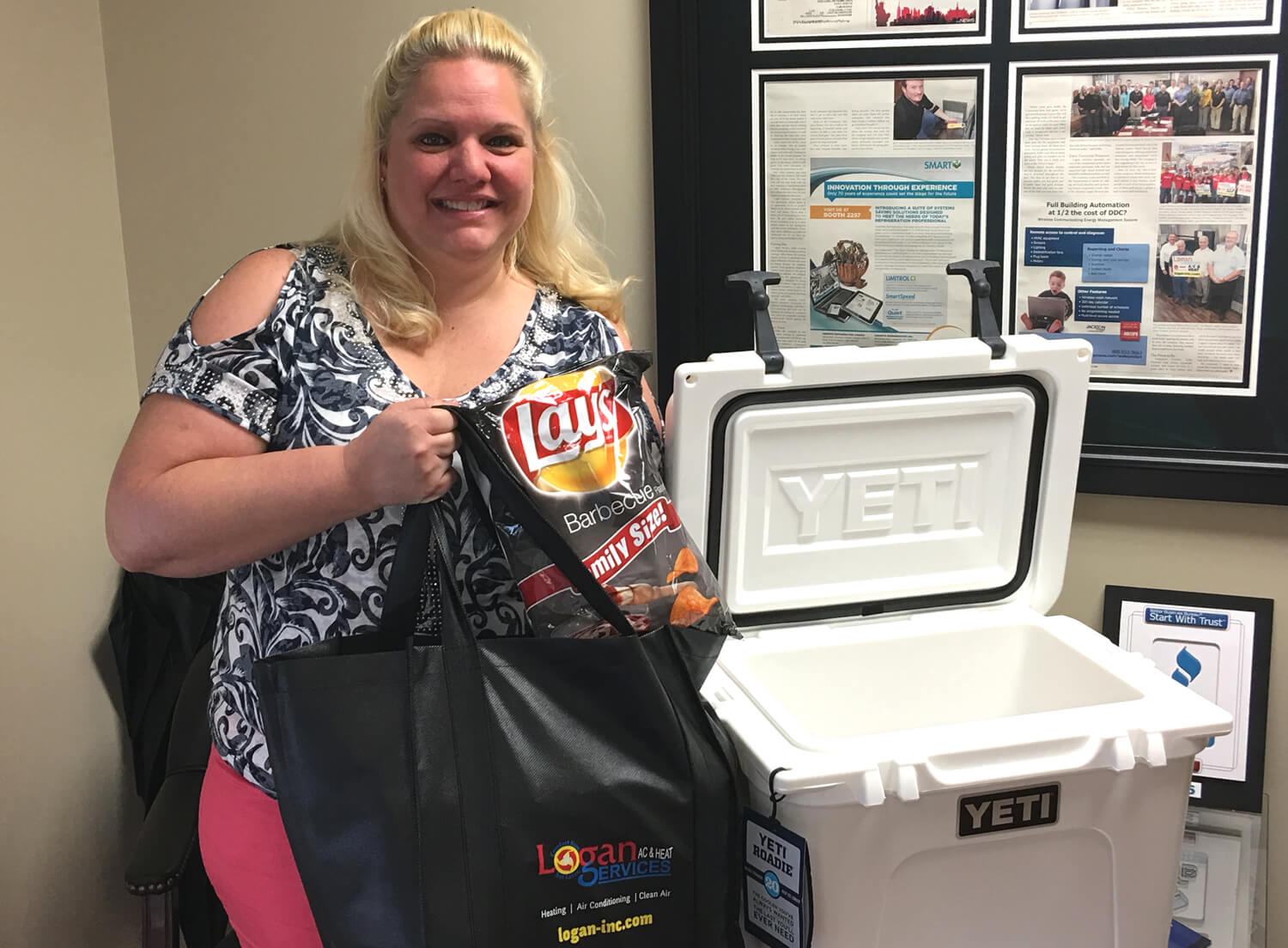 Kettering woman pictured with Yeti Cooler