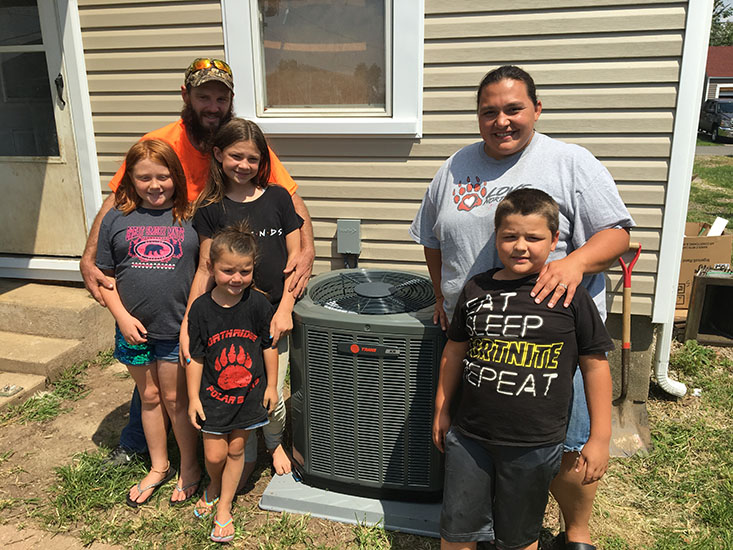 Courtney and Family Win A New A/C