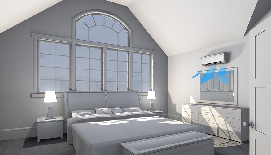 Mitsubishi in master bedrooms