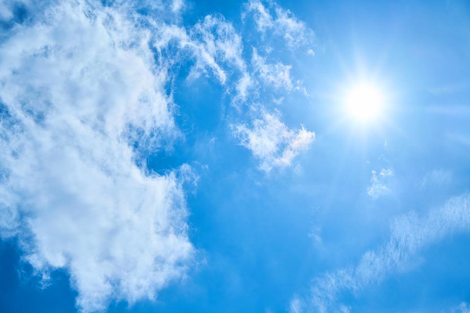 hot summer sky