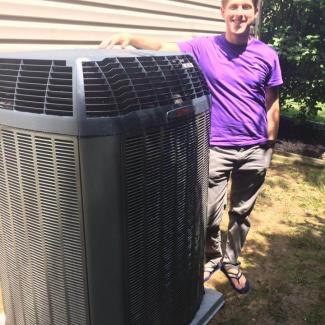 Customer with Trane system