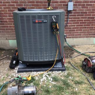 Trane Heat Pump Install