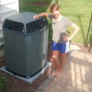 Customer with new Trane system