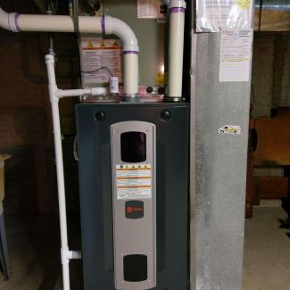 Customer's new furnace