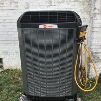Trane Heat Pump Installment
